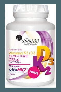 Witamina K2 FORTE MK-7 z Natto + D3 200mcg