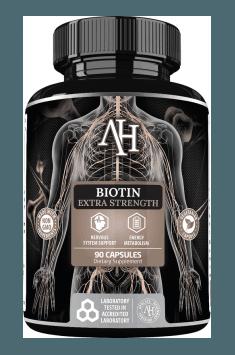 Biotyna Extra Strength od Apollo Hegemony zawiera terapeutyczną dawkę 100 miligramów biotyny w jednej kapsułce!