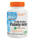 DOCTOR'S BEST Fully Active Folate 800mcg 60 kaps.