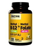 JARROW Methyl B-12 & Methyl Folate 1000/400 100 loz.