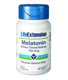 LIFE EXTENSION Melatonin 6 Hour Timed Release 750mcg 60 tab.