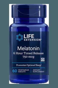 Melatonin 6 Hour Timed Release 750mcg