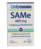 LIFE EXTENSION SAMe 400mg 60 tab.