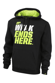 Pull Over Hoodie 450 (Black/Lime)