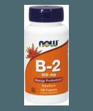 NOW FOODS Vitamin B-2 100mg 100 kaps.
