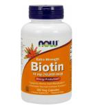 NOW FOODS Biotin 10mg 120 kaps.