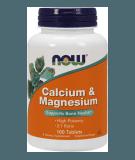 NOW FOODS Calcium & Magnesium 100 tab.