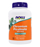 NOW FOODS Chromium Picolinate 200mcg 250 kaps.