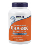 NOW FOODS Double Strength DHA-500 180 softgels
