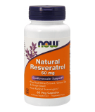 NOW FOODS Natural Resveratrol 50mg 60 kaps.
