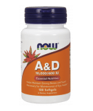 NOW FOODS Vitamin A&D 10000/400 IU 100 kaps.