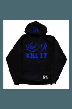 Love It Kill It Hoodie (Black/Blue) #73
