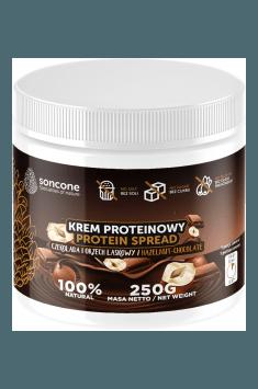 Krem proteinowy o smaku czekolady i orzecha laskowego