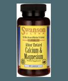 SWANSON Albion Chelated Magnesium & Calcium 60 kaps.