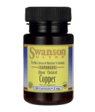 SWANSON Albion Chelated Copper 2mg 60 kaps.