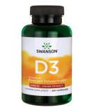 SWANSON Vitamin D-3 2000 IU 250 kaps.